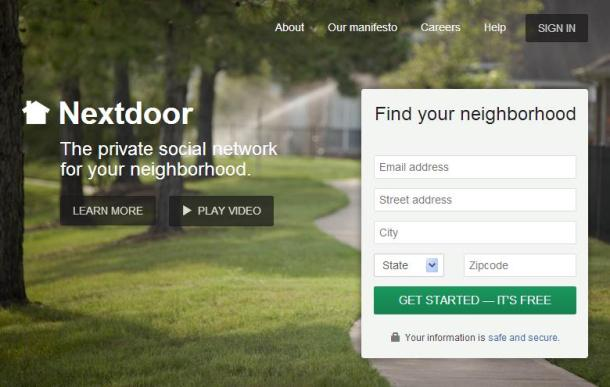 Nextdoor-homepage