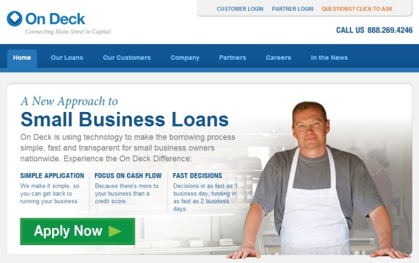 On-Deck-Capital-homepage-screenshot