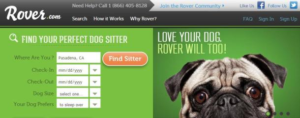 Rover-homepage