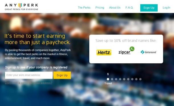Any-Perk-homepage-screenshot