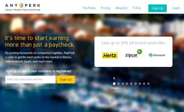 Any-Perk-homepage-screenshot