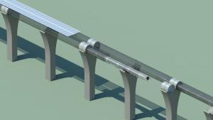 Hyperloop-capsule-solar-arrays