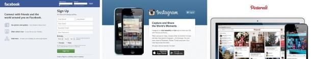 Social-media-Facebook-Instagram-Pinterest-homepages