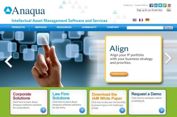 Anaqua-homepage