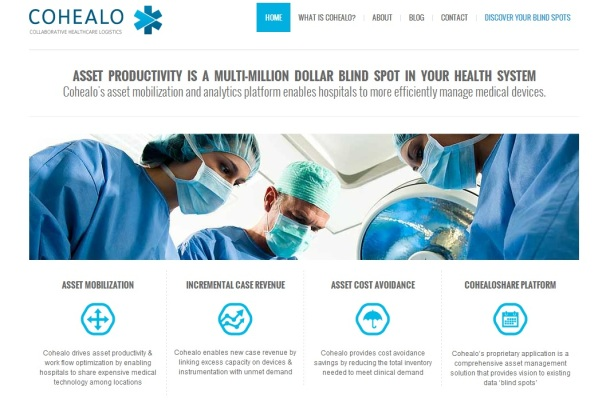 Cohealo-homepage-screenshot