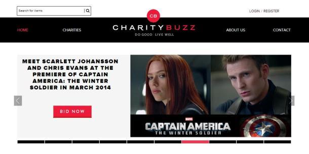 Charitybuzz-homepage