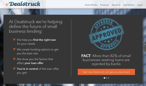 Dealstruck-homepage