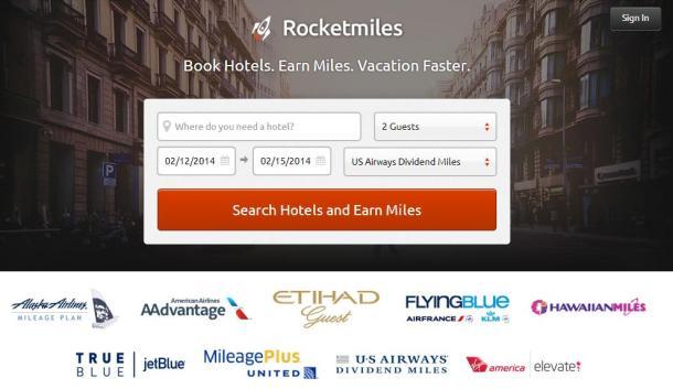 Rocketmiles-homepage-screenshot
