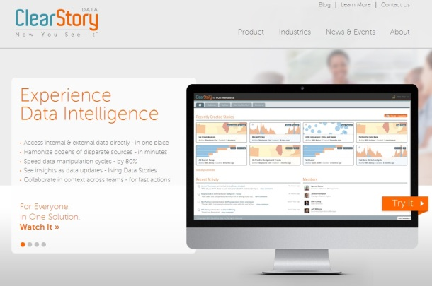 ClearStoryData-homepage-screeshot