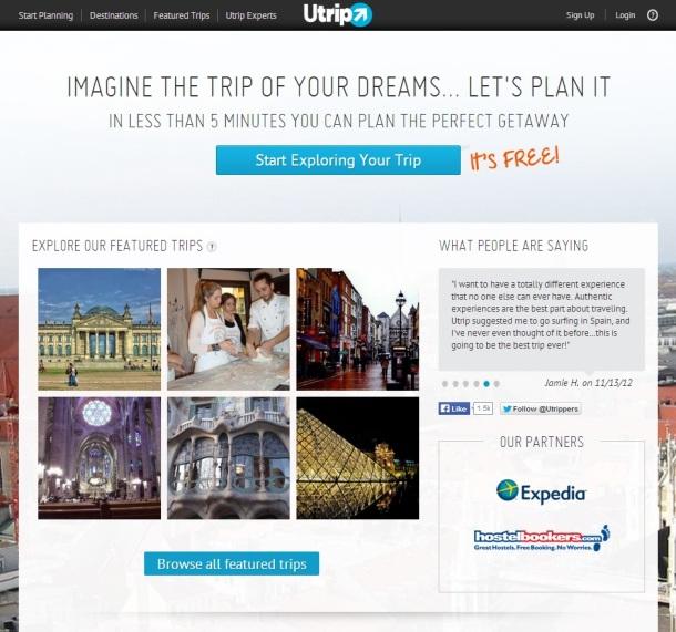 Utrip-homepage