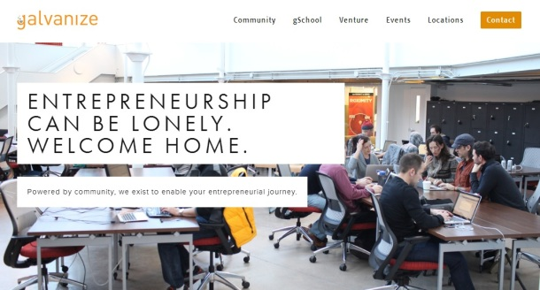 Galvanize-homepage