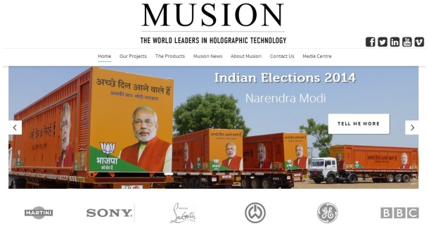 Musion-homepage