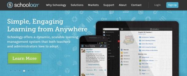 Schoology-homepage