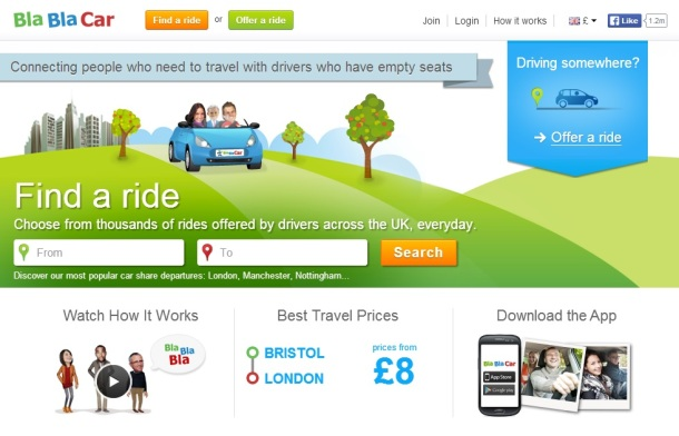 Bla-Bla-Car-homepage
