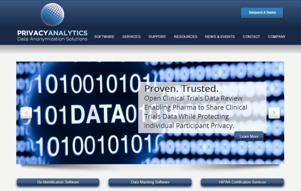 Privacy-Analytics-homepage