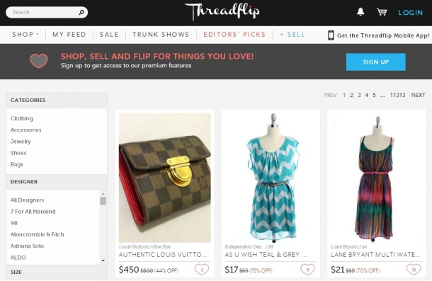 Threadflip-homepage