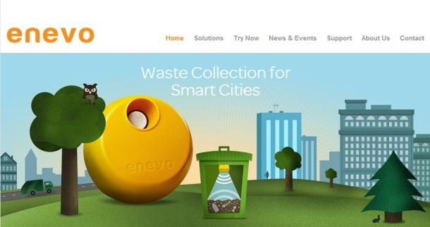 Enevo-homepage