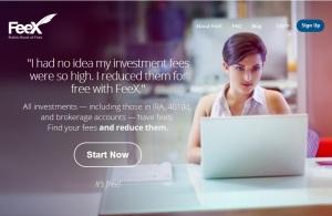 Feex-homepage