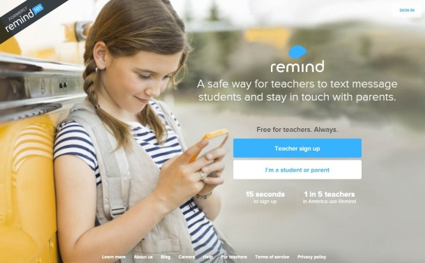 Remind-homepage