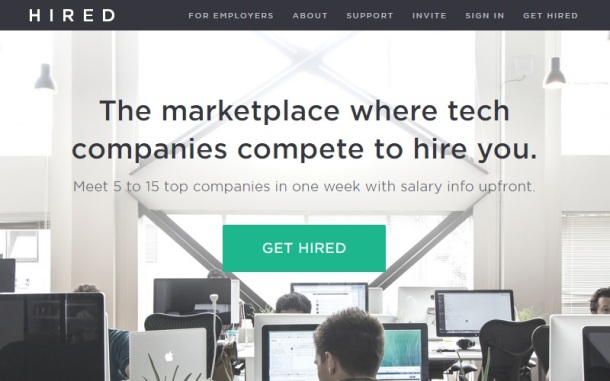Hired-homepage