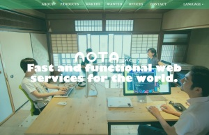 Nota-homepage
