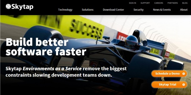 Skytap-homepage