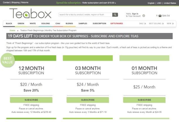Teabox-Subscription