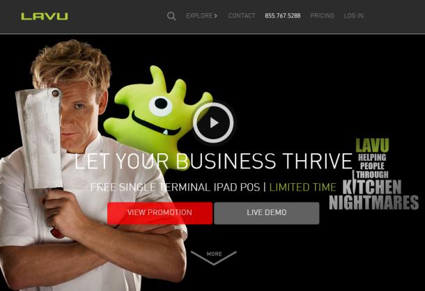 Lavu-homepage