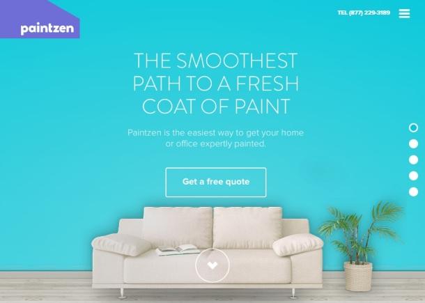 Paintzen-homepage
